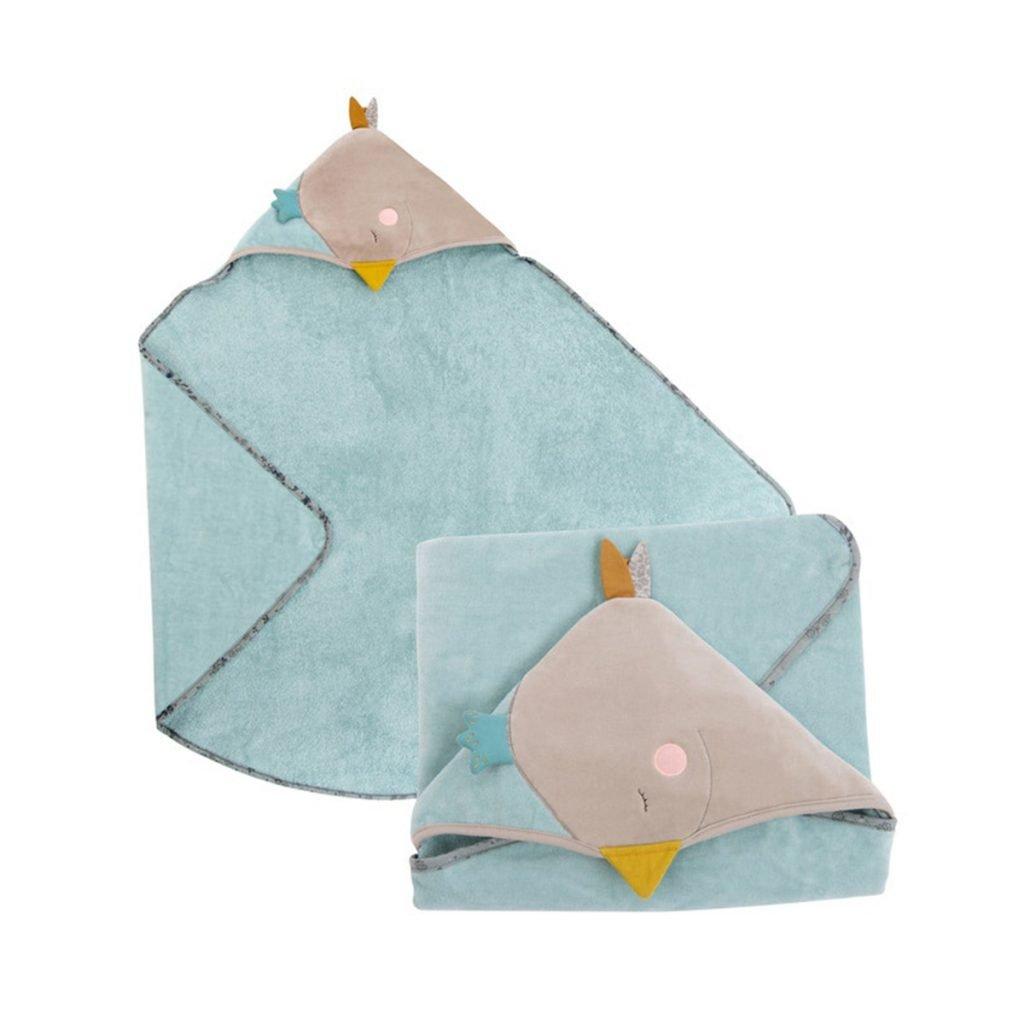 Capa de baño de bebe / Toalla Capucha de la colección El Viaje de Olga de Moulin Roty