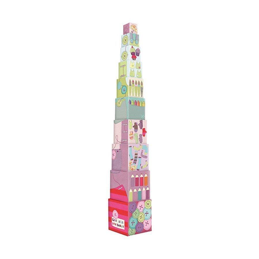 Cubos Apilables de la colección Les Jolis pas Beaux de Moulin Roty