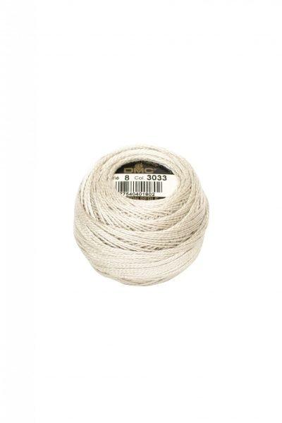 Ovillo coton perlé Nº8 DMC 3033