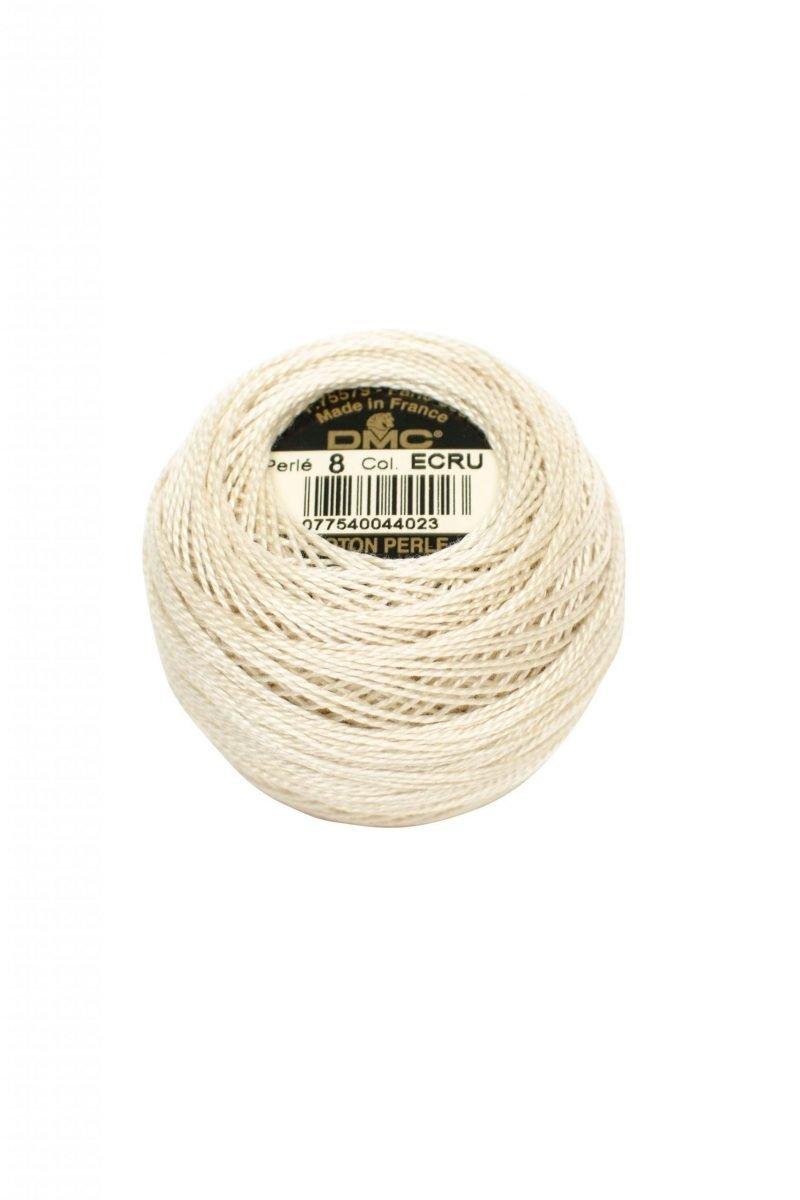 Ovillo coton perlé Nº8 DMC ECRU